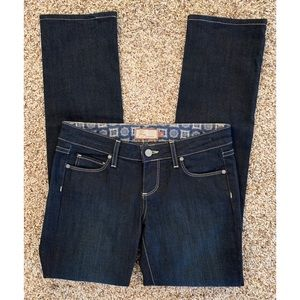 Paige Blue Heights Low Rise Skinny Dark Wash 26